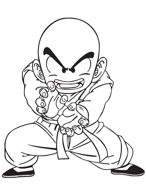 dragon ball character coloring page h m coloring pages dragon ball z krillin coloring page h m coloring pages