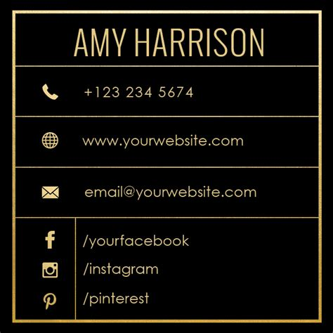 Gift Cards That Work With Square - premade business card template name card template photography name card model name