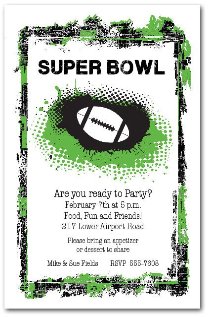 bowl invitation template grunge football invitations