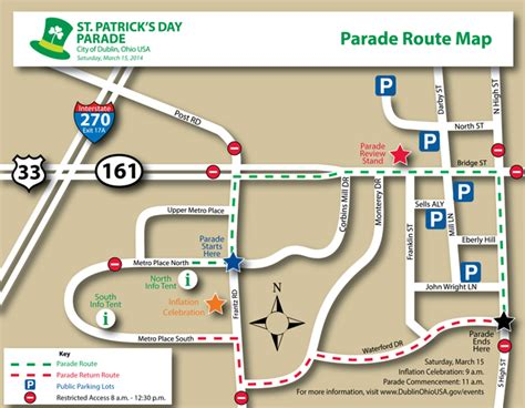 st s day activities columbus ohio st s day parade route road closures dublin