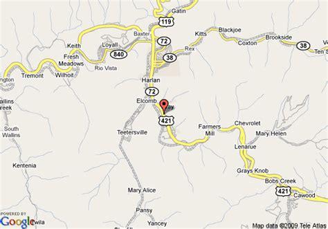 harlan ky map map of inn express harlan harlan