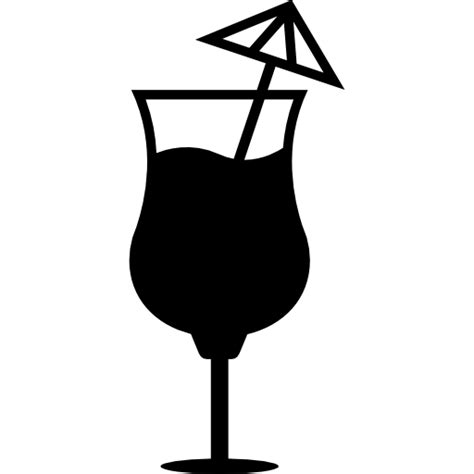 Cocktail Glass With An Umbrella Free Food Icons