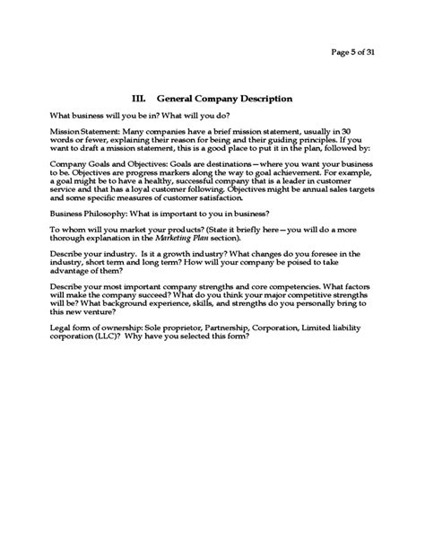 generic business plan commonpence co