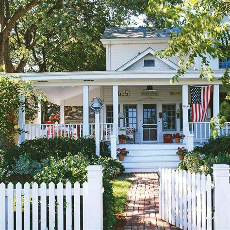 modern farmhouse porch a country farmhouse decorated with red white and blue