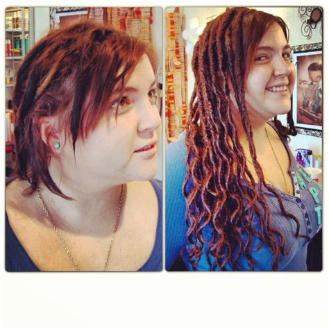short dreadlock extensions before after human hair dreadlock extensions dollylocks