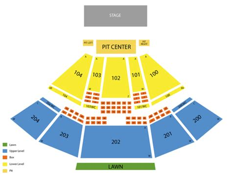 bbt center seating chart camden bb t pavilion seating chart events in camden nj