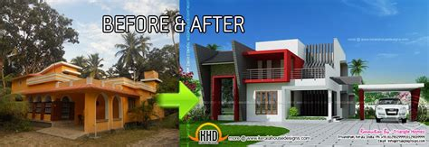 Home Design Before And After by Kerala House Renovation Before And After Kerala Home