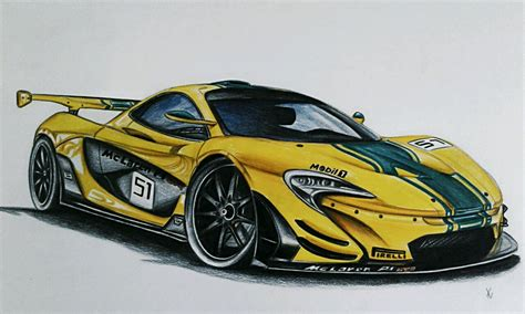 mclaren drawing mclaren p1 gtr drawing took about 10 hrs