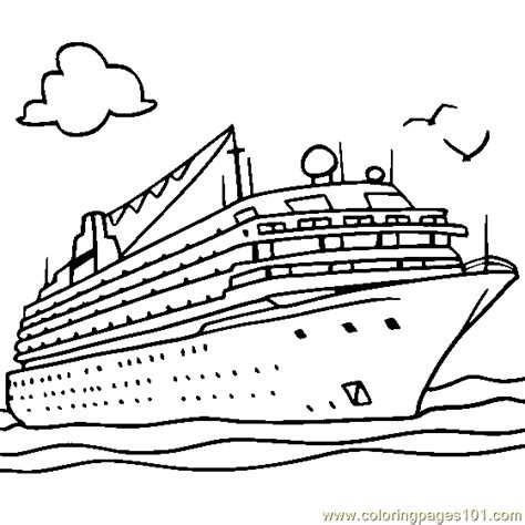 boat coloring clip art coloring pages