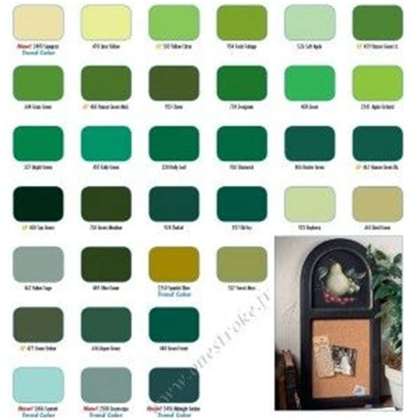 folk paint chart greens folk