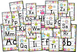 themed letters adorable owl themed alphabet letter posters flapjack educational resources early elementary