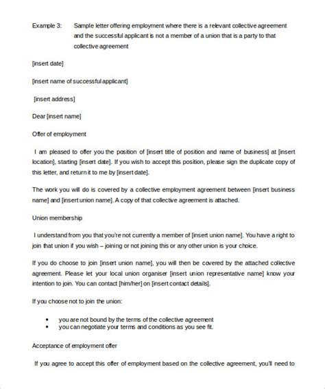 appointment letter employment agreement 23 appointment letter templates free sle exle