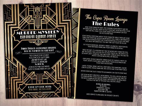 Template Murder Mystery Card by Murder Mystery Dinner Invitation Vintage