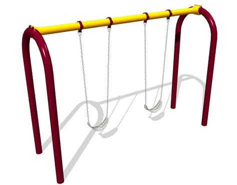 Landscape Structures Swing Seat Arch Belt Swing Stand Alone Swing With Hangers Chains