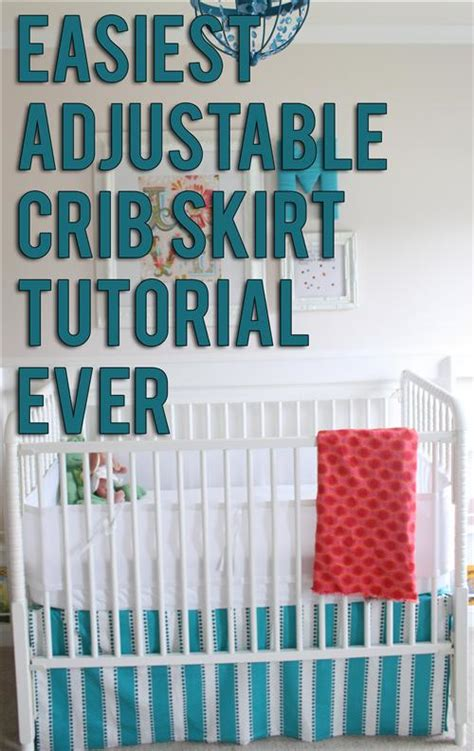 Adjustable Crib Skirt Pattern by Tutorial How To Make Sew An Easy Diy Crib Skirt