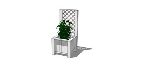 White Trellis Planter by White Planter Box With Trellis Diy Projects