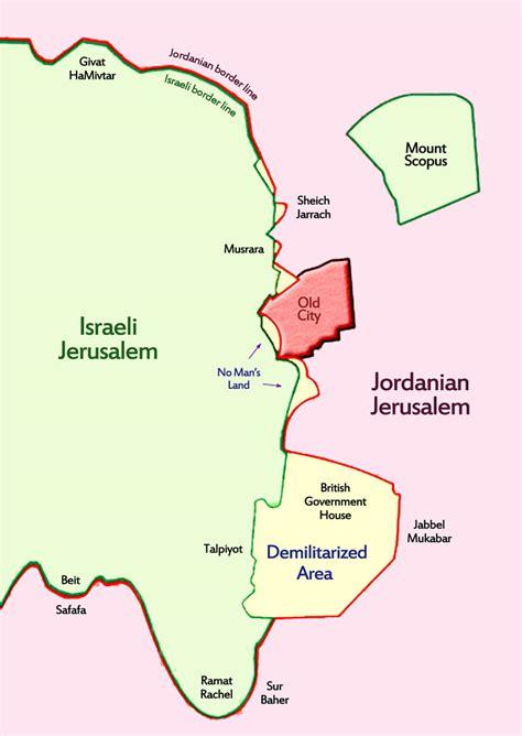 map of city of jerusalem city line jerusalem