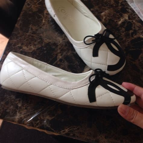 flats that look like ballet pointe shoes 93 chanel shoes chanel look a like ballet flats