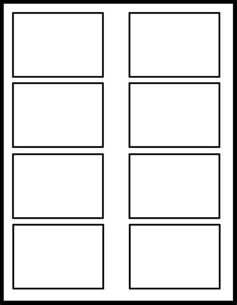 6 panel comic template 2x4 template by comic templates on deviantart