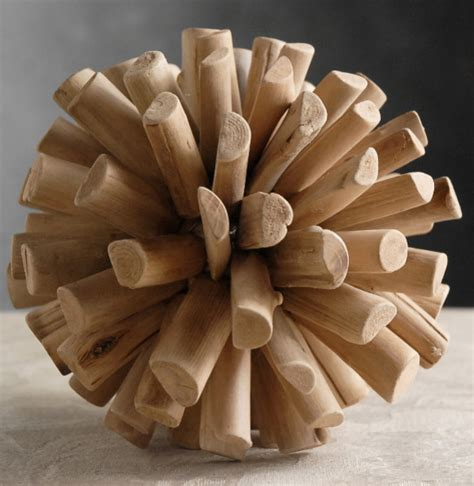 Art Deco Kitchens spikey wood balls contemporary home decor by save on