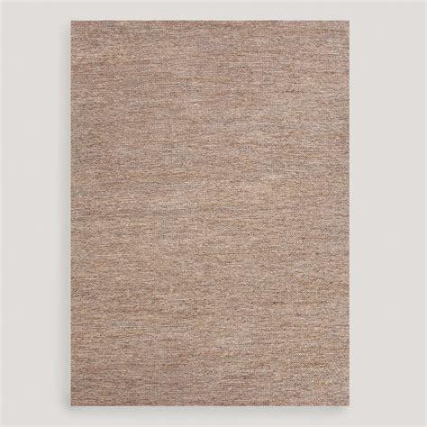 hemp rug gray kamal flat woven hemp rug world market