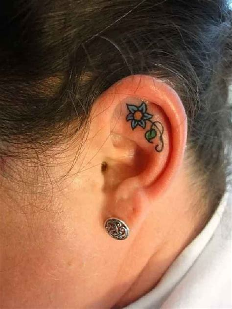 rose ear tattoo 233 best images on