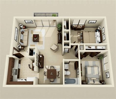 2 Bedroom Home Plans by 2 Bedroom Apartment House Plans