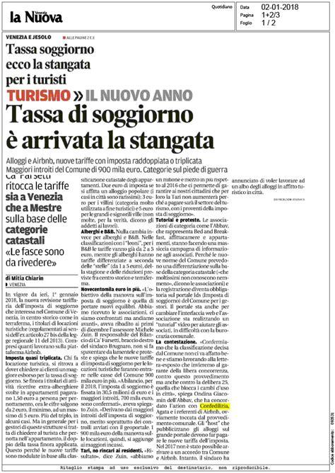 tassa di soggiorno venezia la nuova venezia 2 1 2018 tassa di soggiorno 232