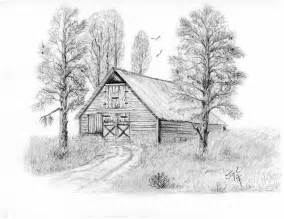 the country barn drawing by syl lobato