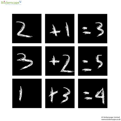 square wall stickers set of square chalkboard wall stickers stickerscape uk