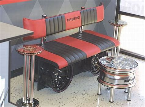 seven unique furniture designs made from auto parts