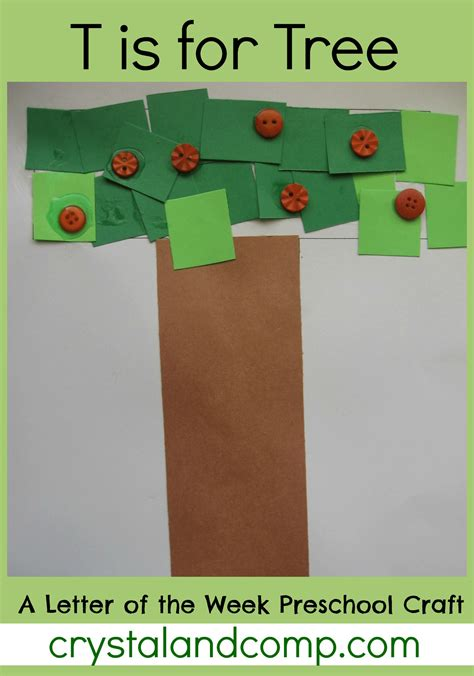 T Is For Tree A Letter Of The Week Preschool Craft | letter of the week preschool craft for t