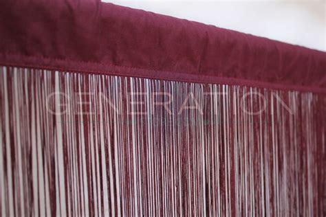 long curtain fringe burgundy color fringe curtain extra long 3 feet w x 12