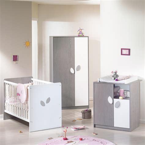 chambre bebe com chambre b 233 b 233 trio leaf gris blanc 3 233 l 233 ments de sauthon