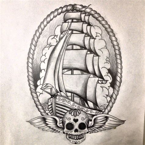 ship tattoo ideas traditional ship on traditional shark