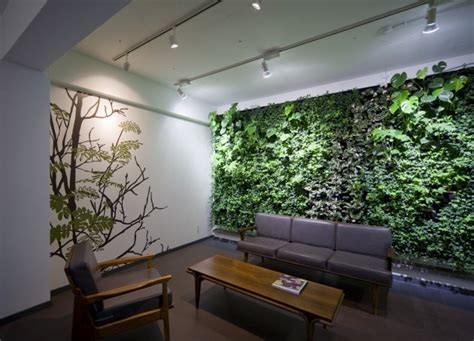 indoor plant design make the room cool and fresh with interior plant walls