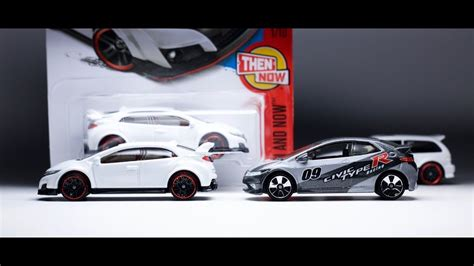 Hotwheels Civic Type R Then And Now lamley showcase 2017 wheels honda civic type r together with its matchbox counterpart