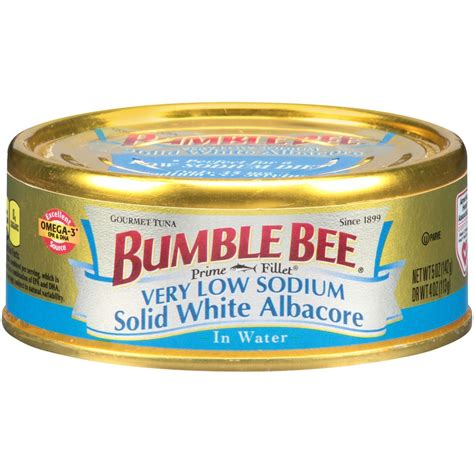bumble bee prime fillet low sodium solid white