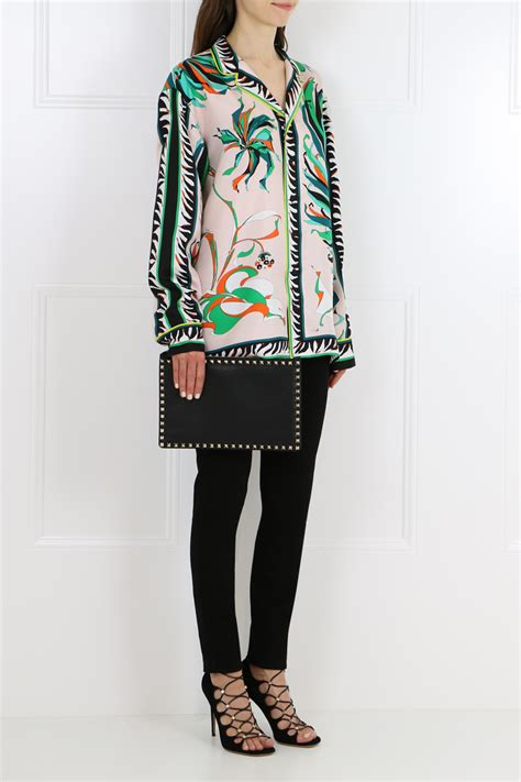 Emilio Pucci Roscone Print T Back Top It Or It by Lyst Emilio Pucci Printed Silk Top In Green