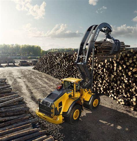 volvo construction equipment helping  shape  future  elmia wood highways today
