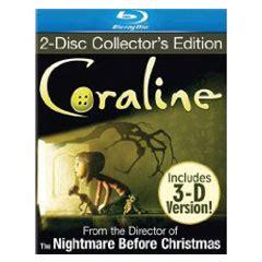 Coraline 2d 3d 1 Disc review coraline 2d 3d hd report