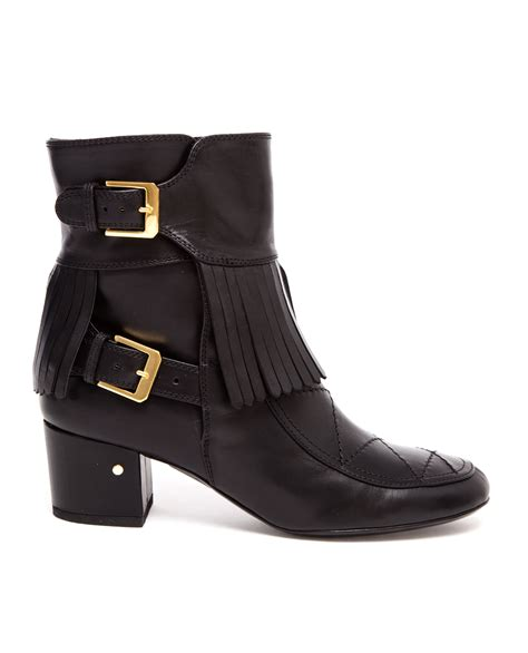 laurence dacade boots laurence dacade babacar fringed leather ankle boots in