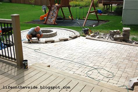 Diy Patio With Pavers On The V Side He Built Me A Patio And I Liked It
