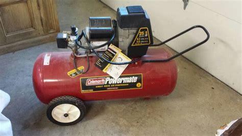 coleman hp  gallon air compressor  sale  plano