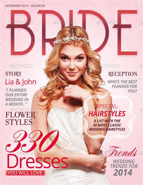 Wedding Magazine Design by 20 Best Magazine Cover Design Templates