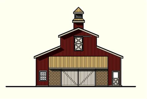 horse barn plans with living quarters 5 stalls 3 pin by henry goodnow on barns pinterest barn with