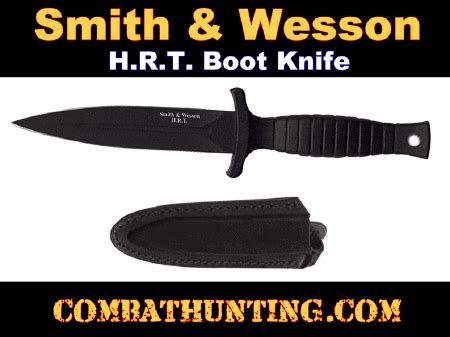 smith wesson swhrt9b black hrt boot knife 3073 smith wesson hrt boot knife stainless 440c blk