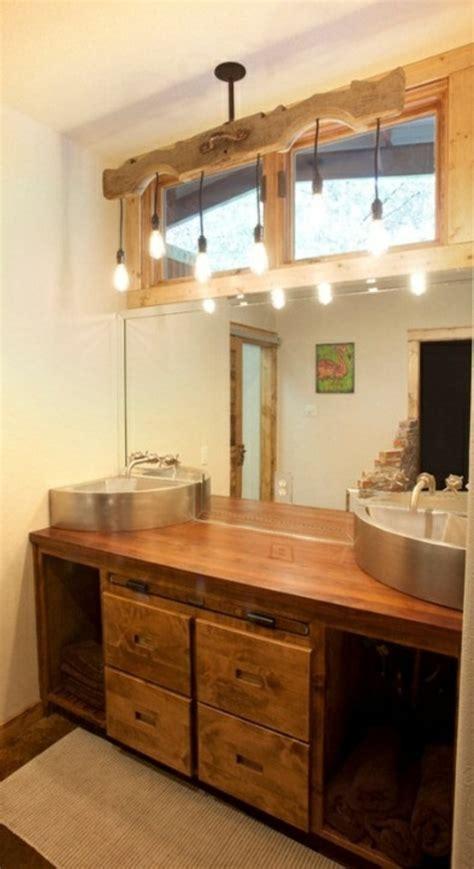 badezimmer vanity rustikal 35 rustikale badezimmer design ideen l 228 ndlicher scheunen