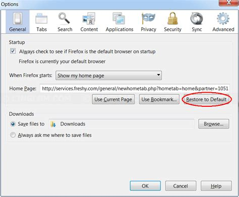 change default home page and search provider on firefox