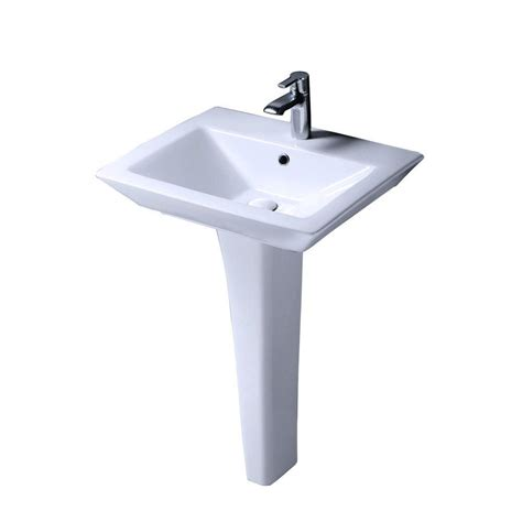 barclay products aristocrat pedestal lavatory combo bathroom sink in white ipl3000 the home depot